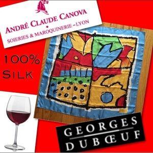 🌿Andre Claude Canova 100% Silk Scarf